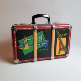 koffer kleine maat paris london small size suitcase 1980s