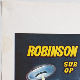 robinson crusoe on mars SF film movie poster belgium 1964