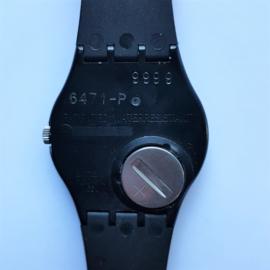 swatch horloge watch keith haring gz104 blanc sur noir 1986