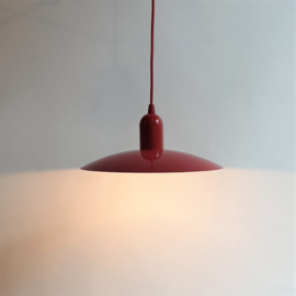 hanglamp rood hanging lamp red post modern 1980s