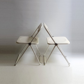 stoel 2x plia klapstoel pair of giancarlo piretti folding chairs castelli 1967