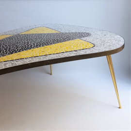 tafel salontafel mozaiek mosaic top coffee table berthold muller-oerlinghausen 1950s