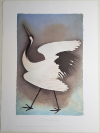 pater sato zeefdruk poster litho bird USA 1993