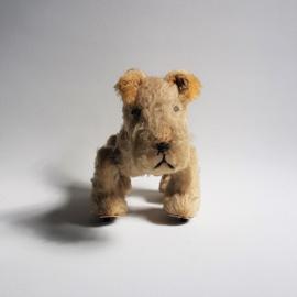 hond plush schuco trip-trap walking terrier dog 1950s