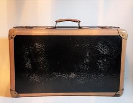 koffer zwart / beige suitcase 1920s / 1930s