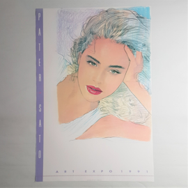 pater sato print poster woman art expo USA 1991