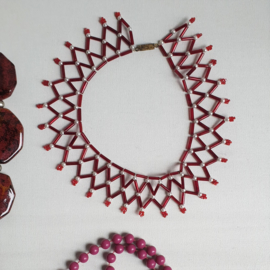 halsketting 5x lotje necklace 1960s / 1970s