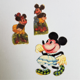 mickey & minnie mouse ratface poezieplaatjes scraps 1930s