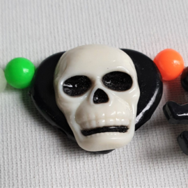 halloween schedel armband skull bracelet 1970s