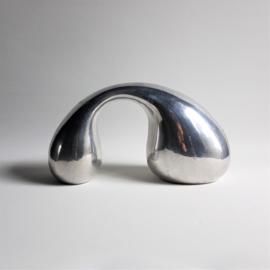beeld figurine aluminium sculpture globular eva & peter moritz 1980s