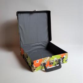 """koffer singles 7""""cassettebandjes cassette tape case 1970s"""