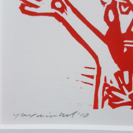 jurriaan rexwinkel rex houtsnede lino print gesigneerd genummerd 2010