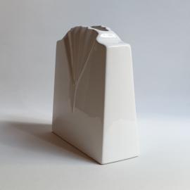vaas hoekig wit post modern vase 1980s