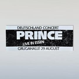 prince promo toursticker ESSEN 29 augustus 1986