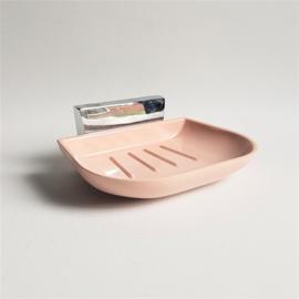 zeepbakje soap holder bakeliet zacht-roze 1950s
