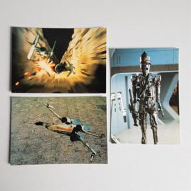 star wars ansichtkaart 3x ongelopen postcard 1997