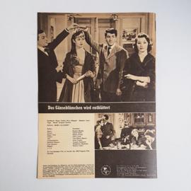 bardot, brigitte bioscoop flyer das ganse blumchen wird entblattert 1960s