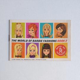 barbie folder boekje booklet the world of barbie fashions book 2 1967