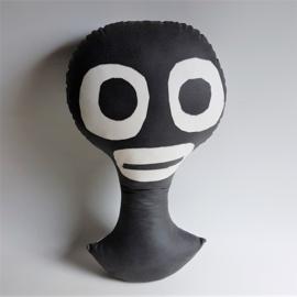 "kussen ""jungle boy"" bas kosters studio pillow textile art"