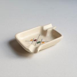 asbak + sigarettenbakje keramiek maja ceramic ashtray cigarettes holder 1950s
