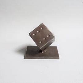 papier verzwaarder dobbelsteen dice paperweight edgar brandt  1960s