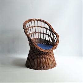kinderstoel riet children's chair 1970s
