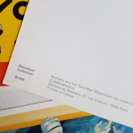 michelin 4x ansichtkaart ongelopen postcard retro