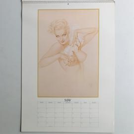 vargas pin-up kalender calendar complete big size 1980