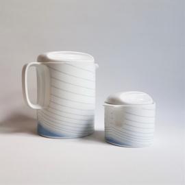 theepot + suikerpot teapot sugar bowl eschenbach bavaria germany 1980s