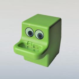 koffer cassettebandjes cassette tape case groen 1970s