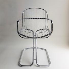 stoel bureaustoel chair Gastone Rinaldi space age 1970s