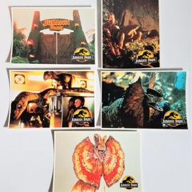 jurassic park 5x ansichtkaart ongelopen postcard 1993