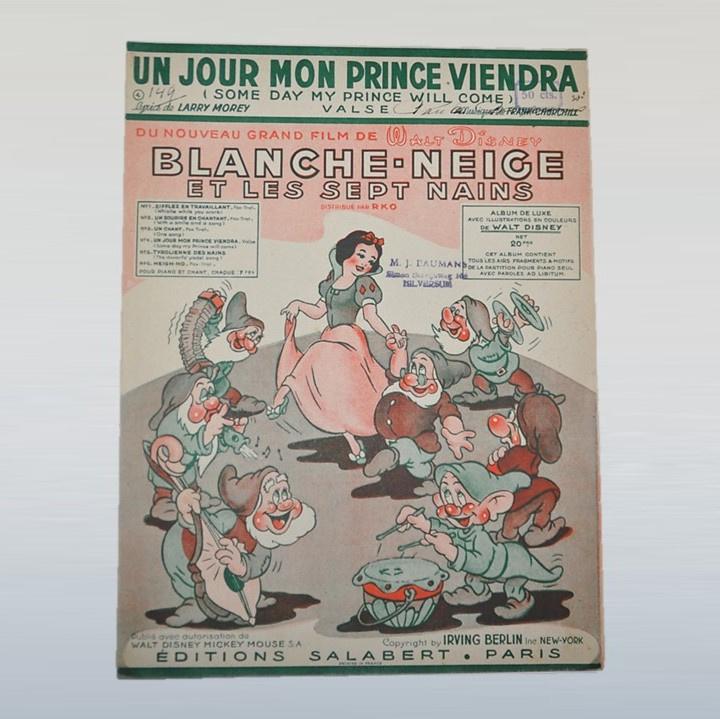 sneeuwwitje blanche neige disney bladmuziek 1938 GRATIS VERZENDEN