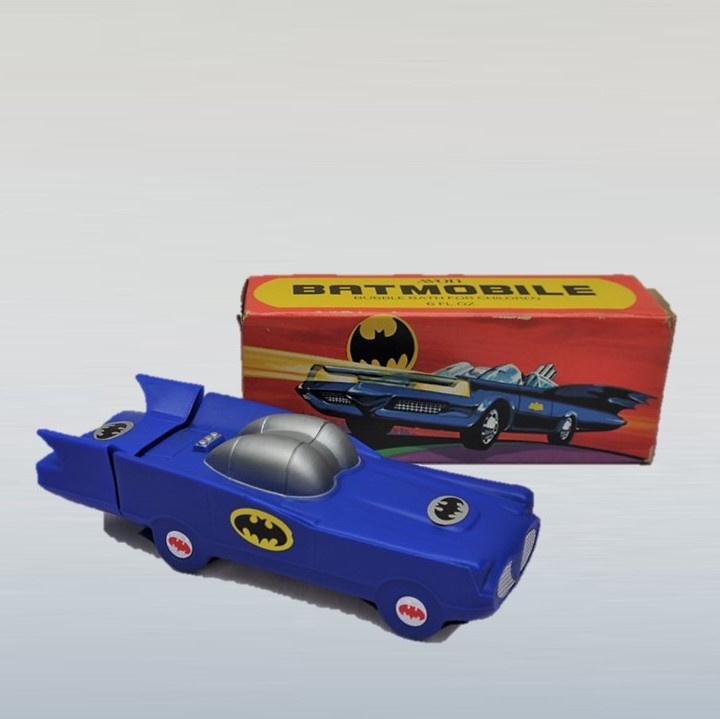 batman batmobile shampoofles AVON in box 1978
