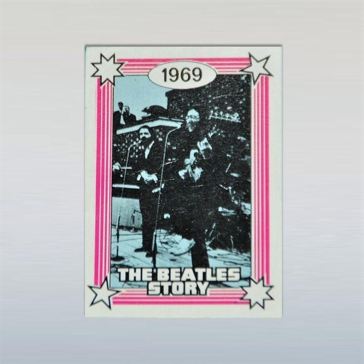 beatles, the kauwgum plaatje monty gum card 1970s