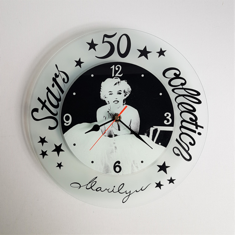 monroe, marilyn klok wall clock 1980s