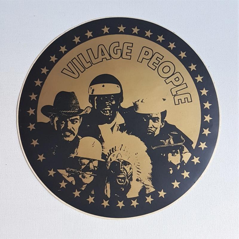 village people XXL sticker 1970s GRATIS VERZENDEN