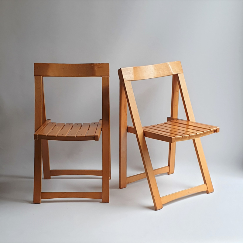 stoel klapstoel set pair of folding chairs aldo jacober alberto bazzani 1960s nr.2