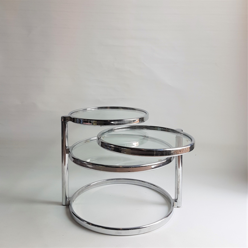 tafel salontafel 3-delig MILO BAUGHMAN style swivel tiered circles coffee table