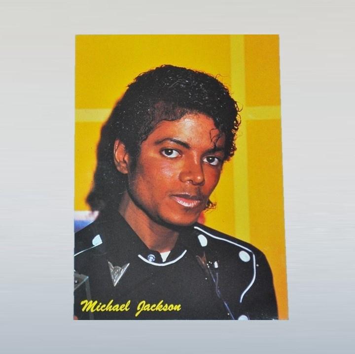 jackson, michael postcard ongelopen 1980s GRATIS VERZENDEN