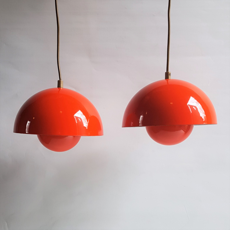hanglamp hanging lamp flowerpot 2x set verner panton louis poulsen 1968