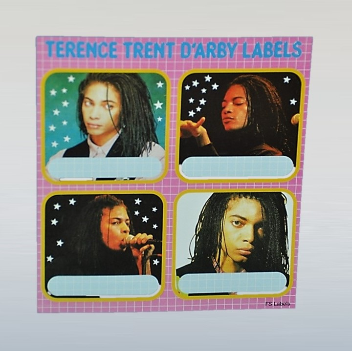 terence trent d'arby stickers school labels 1980s GRATIS VERZENDEN