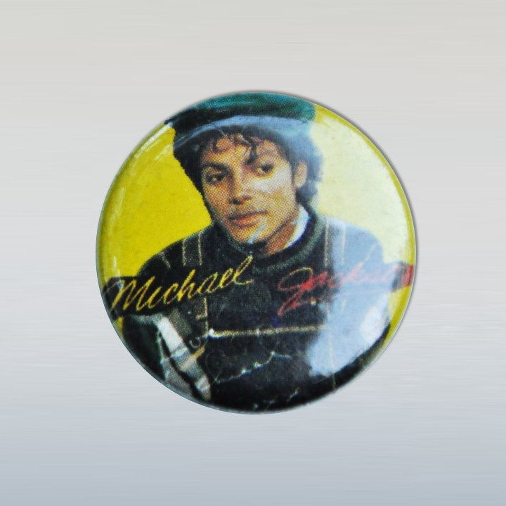jackson, michael button pin 1980s