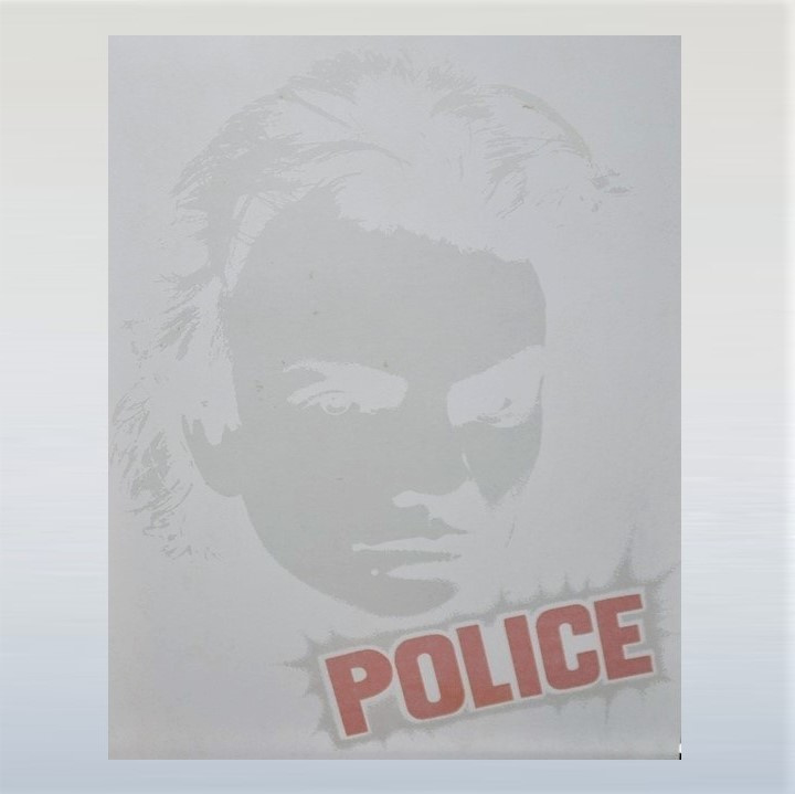 police / sting strijkembleem iron on 1970s