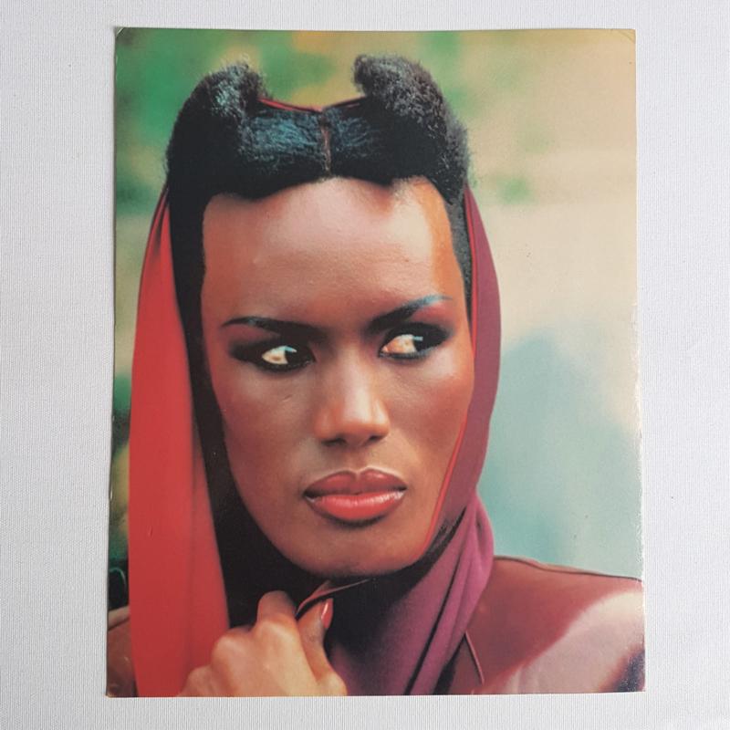 jones, grace grote kaart 1980s GRATIS VERZENDEN