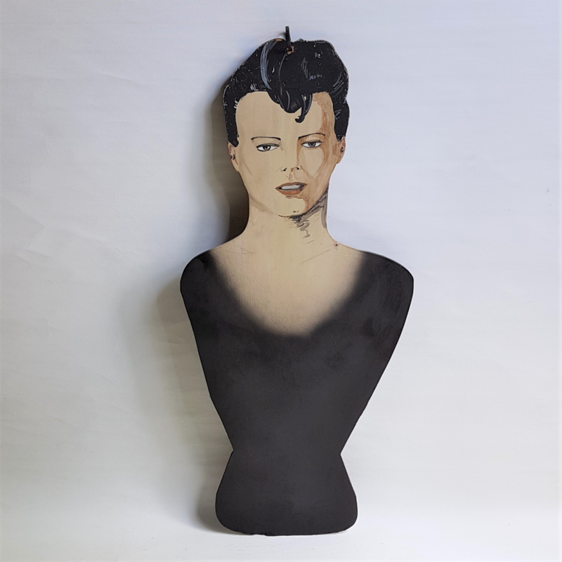 bowie, david kapstok kledinghanger coat hanger art painted 1980s