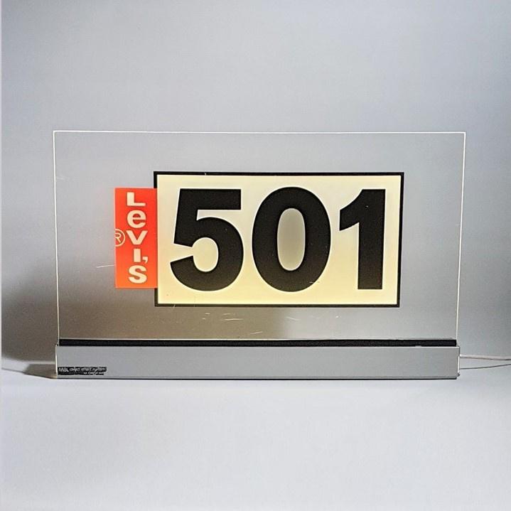 levis 501 reclame lichtbak lamp store display 1980s / 1990s