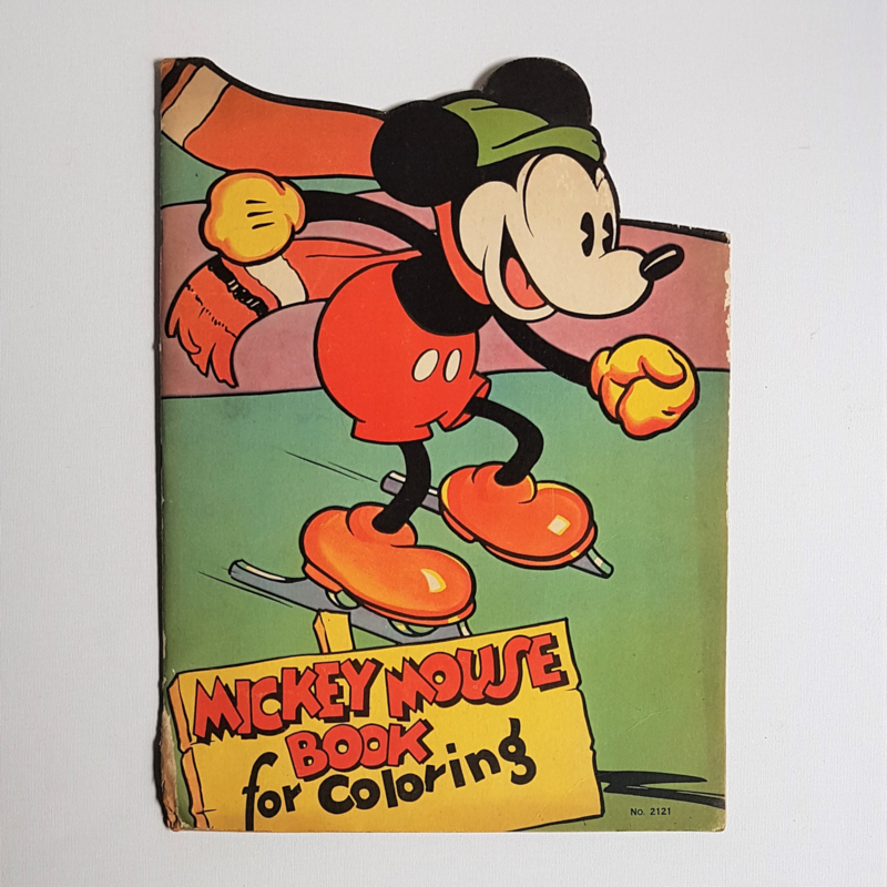 mickey mouse ratface kleurboek colouring book mickey 1930s