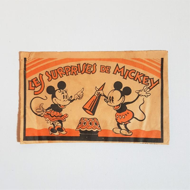 mickey mouse rat face verpakking les surprises de mickey 1930s