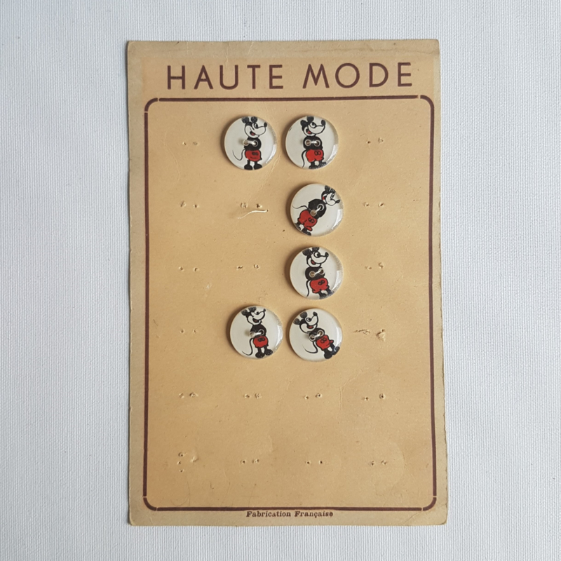 mickey mouse rat face knopen buttons 1930s